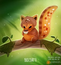 Daily+Paint+1501.+Biscoatti+by+Cryptid-Creations.deviantart.com+on+@DeviantArt