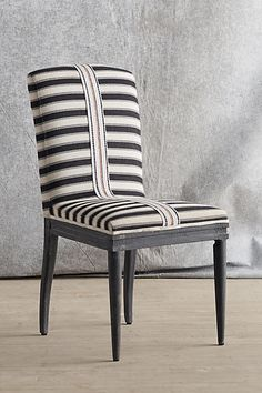 Love this with your color pallet Grassland Stripe Dining Chair - anthropologie.com