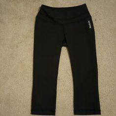Reebok Play Dry Capri Black workout Capris by reebok. Really comfortable! Reebok Pants