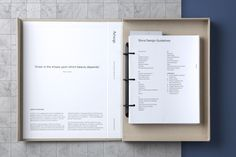 Aesop Store Design Guidelines by U-P. – Print Design Co. - New Site Ideas De Portfolio, Portfolio Design, Portfolio Book, Printed Portfolio, Layout Design, Print Layout, Print Design, Design Guidelines, Brand Guidelines