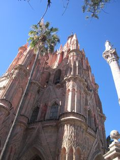 Detail of San Miguel de Allende's Parroquia church.