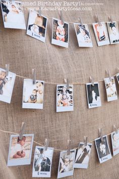 hanging photos around the walls? with twine, clothespins, photos