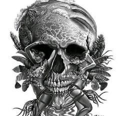 Skull art H.H