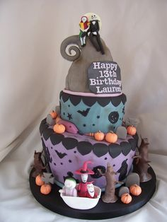 Nightmare Before Christmas Cake - Halloween Theme