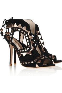 Sophia Webster | Riko cutout suede and leather sandals | NET-A-PORTER.COM