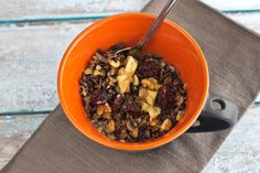 Wild Rice Porridge is a great idea for breakfast. It'll keep you fueled all day long!