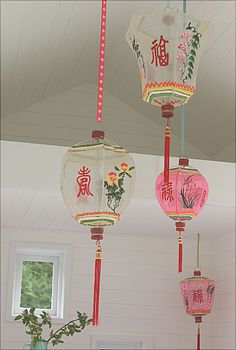 Hand Painted Lanterns