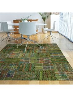 benuta Designer Teppich Rusty grün /   benuta Designer Rug Rusty green #benuta #teppich #interior #rugs