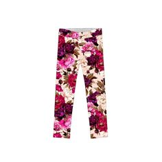 7459eae143f Vintage Charm Lucy Cute Floral Print Fall Knit Leggings - Girls