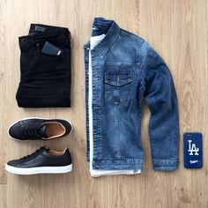 """6,411 Beğenme, 24 Yorum - Instagram'da Moda Masculina (@modamasculina): """"Combo com jaqueta jeans para inspiração! By @mrjunho3"""""""