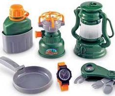 Kids Camping Gear Set. Very cool website as well. Lots of neat stuff!