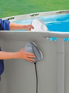 INTEX Above Ground LED Magnetic Swimming Pool Light thinking about buying one of these Above Ground Pool Lights, Intex Above Ground Pools, Above Ground Swimming Pools, In Ground Pools, Swimming Pool Decks, Swimming Pool Lights, Diy Pool, Pool Fun, Summer Pool