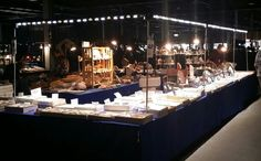 Craft show booth display with show off lighting system