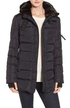 S13 'East Sider' Quilted Coat with Faux Fur Trim available at #Nordstrom
