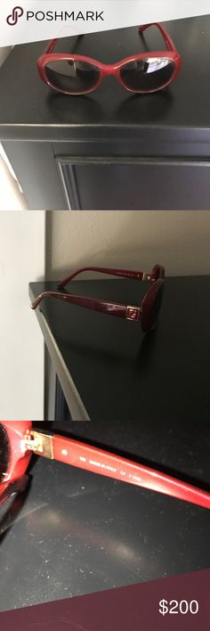 Fendi Sunglasses Red sunglasses Fendi Accessories Glasses