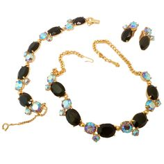 1stdibs | Vintage Signed Schiaparelli Necklace, Bracelet & Earrings