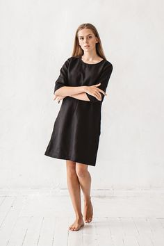 Linen dress, Black linen dress, Linen tunic, Minimal linen tunic, Stone washed, Linen clothes, Loose dress, Organic linen, Eco friendly, High Quality, Women clothes, Linen dress, White linen dress, Minimal linen dress, Linen tunic, Stone washed linen tunic, Casual dress, Dress with pockets, Women dress, Organic linen dress, Linen dress woman, Linen dresses for women, Linen clothing.  DETAILS:  - Dress length about 90 cm / 35.5 - Can be made in different sizes - Made from 100 % Baltic lin...