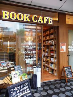 Book Cafe, Book Store Cafe, Bookstore Design, Cafe Bookstore, Deco Cafe, Design Café, Coffee Shop Design, Cafe Shop, Coffee And Books