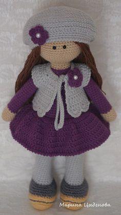 Sweet little crochet doll base