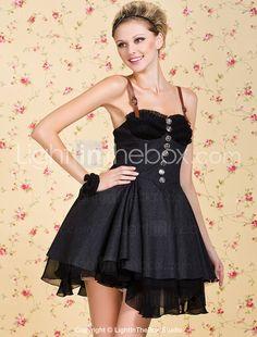 TS VINTAGE PU Strape Military Sexy Tweed Dress - USD $ 54.99
