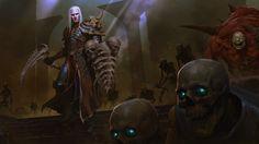 Beautiful Diablo III artwork uploaded by NetDevil - Rise of the Necromancer - Key Art (Horizontal) Blizzard Warcraft, Raise The Dead, Blood And Bone, Evil Villains, Keys Art, Pandora, Character Illustration, Fantasy Art, Video Game