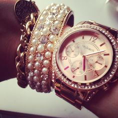 gold watch arm candy - Google Search