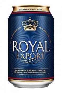 Cerveja Royal Export, estilo Premium American Lager, produzida por Ceres Bryggerierne, Dinamarca. 5.8% ABV de álcool.