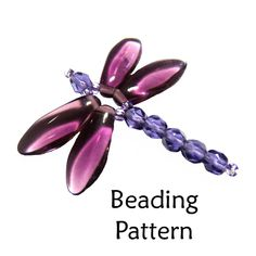 Beading Tutorial Pattern - Jewelry Making Beaded Necklaces - Simple Bead Patterns - Dragonfly Necklace Dragonfly Pendant Beading Pattern Bead by . Beaded Dragonfly, Dragonfly Jewelry, Dragonfly Pendant, Beaded Jewelry, Handmade Jewelry, Handmade Wire, Bead Earrings, Wire Jewelry, Stud Earrings