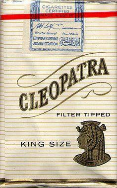 Типографика на упаковках сигарет