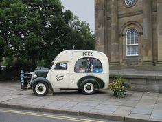 Ice Cream Van, York, England by Hunky Punk Ice Cream Van, Road Transport, Vintage Vans, Most Beautiful Cities, North Yorkshire, Cool Cars, York England, Punk, Bike