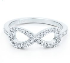 Would love to get one of theses. Tiffany & Co. Infinity Ring - Platinum and Diamonds (.17 tw) $2,200