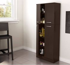 Cabinets and Storage Solutions For Kitchen Pantry Kid Pet Media With Doors Brown #SouthShoreFurniture