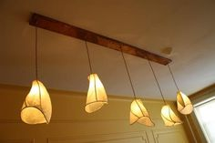 Items similar to Chandelier Lighting - Firefly Lantern Chandelier - Copper Sculpture and Paper Lanterns with Rectangular Copper Canopy - Farmhouse Rustic on Etsy Copper Light Fixture, Custom Chandelier, Light Fixtures, Lights, Led Light Bulbs, Led Lights, Light, Chandelier, Rustic Chandelier