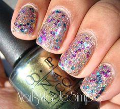I love glitter nails!!!