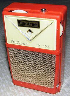 Vintage Electra 2-Transistor Boy's Radio, Model TR-102, Made in Japan.