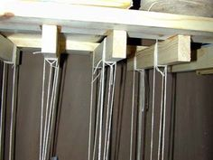 Build your own drying and storage rack - Page 2 - WetCanvas  -  Wrap string around 3 or four times, tie it off.