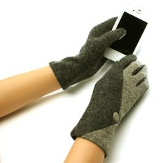 New Ladies Winter Fancy Dressy Wool Magic Touch Screen Thumb Index Technology Glove Outdoor Indoors Gloves with 2 Tone Abstract Design and Button Magic Touch Glove for Tablet PC, Ipods, Ipads, Iphones, Laptops, Touchscreens, PDA and so much more New Technology, it's amazing! Keep your glove on and adjust your electronic devices. Warm and Comfortable Super soft & warm. New and improved quality and fit, will snug your hands nicely...