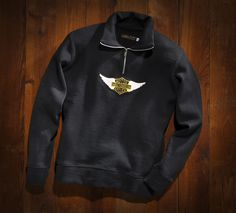HARLEY-DAVIDSON MUSEUM SHOP Winged Patch Sweater