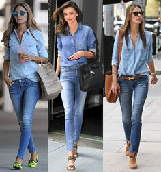 Hmm, it seems double denim is fashionable again. Maybe yes?