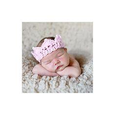 Couronne nouveau né laine, modèle rose - Achat / Vente bandeau ...