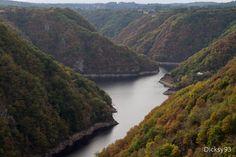 Les gorges de la Dordogne.St.-Julien-près-Bort, Limousin