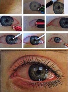 Pencil Drawings, Art Drawings, Horse Drawings, Realistic Eye Drawing, Color Pencil Art, Art Graphique, Drawing Techniques, Drawing People, Art Tutorials