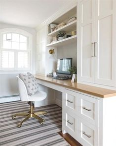 Guest Room Office, Home Office Space, Home Office Design, Home Office Decor, House Design, Tiny Home Office, Kids Office, Office With Two Desks, Office Desks For Home