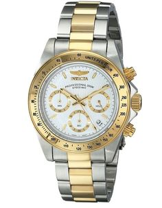 S Invicta Speedway 9212 Watch Men Chronograph Collection Gold Water resistant  #Invicta