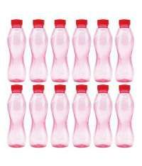 Milton Red Water Bottle Set of 12 Rs.441(18%Off) At Snapdeal