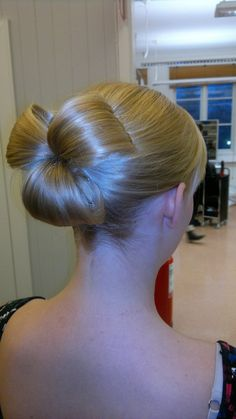 Original bun. #hair #hairdo #bun