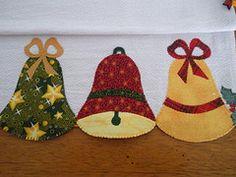 Sinos de Natal (Patchrosa) Tags: christmas natal patchwork sino panodeprato…