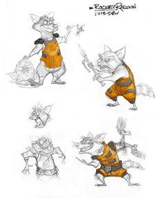 Rocket Raccoon by Jeff Merghart
