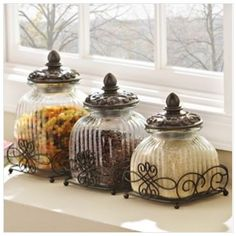 http://www.kirklands.com/product/Kitchen-Dining/Kitchen-Canisters/Loop-Glass-Canister-Set-of-3/pc/2753/c/2897/169549.uts