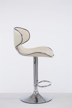 Cream Modern Bar Stool Metal Faux Leather Seat Cafe Pub Kitchen Chair Gas Lift for sale online Modern Bar Stools, Kitchen Chairs, Metal, Leather, Home Decor, Outer Space, Decoration Home, Room Decor, Kitchen Stools